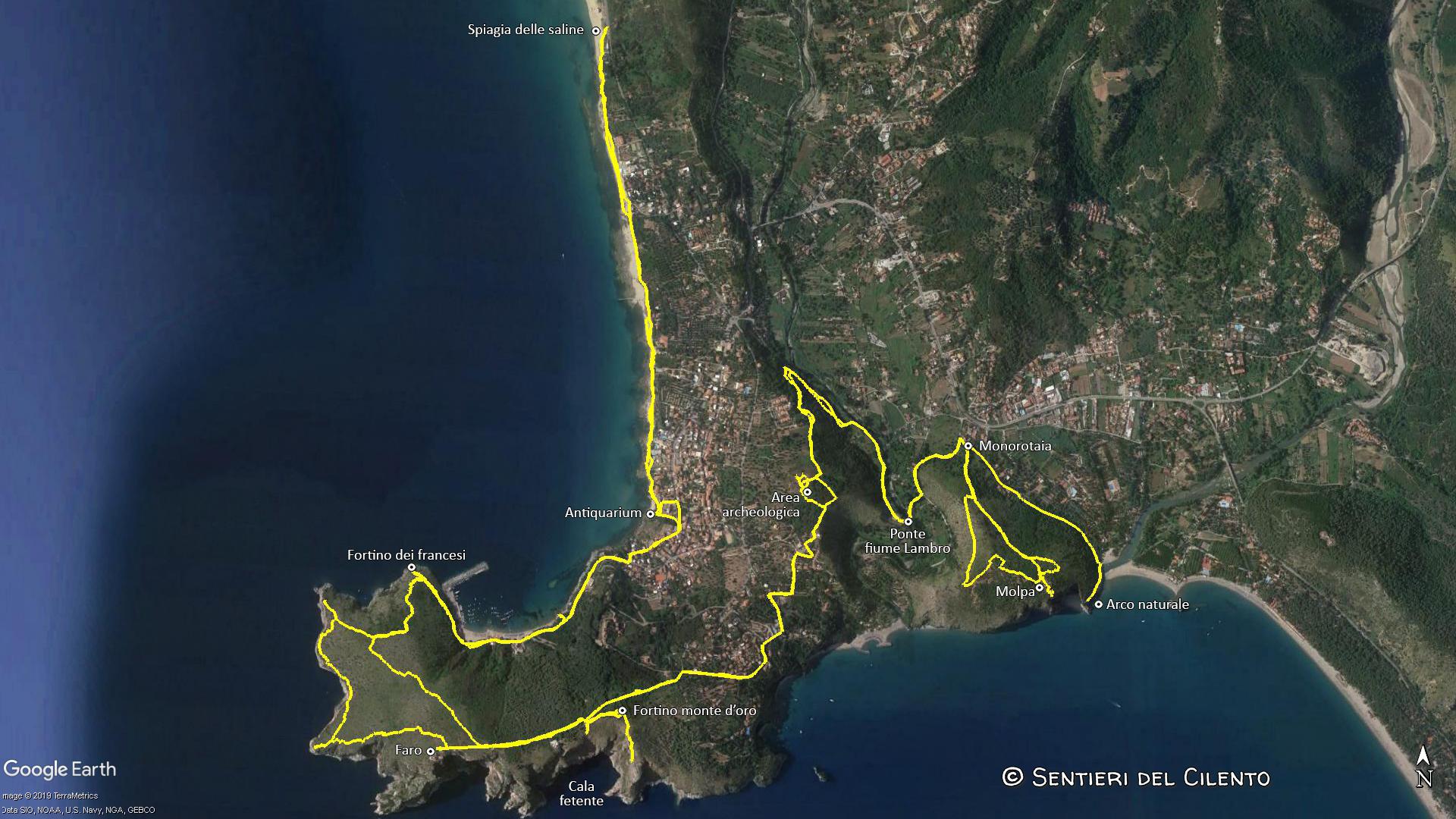 Cartina Stradale Cilento.Sentiero Della Primula Sentieri Del Cilento